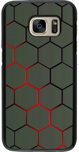 Coque Samsung Galaxy S7 - Geometric Line red