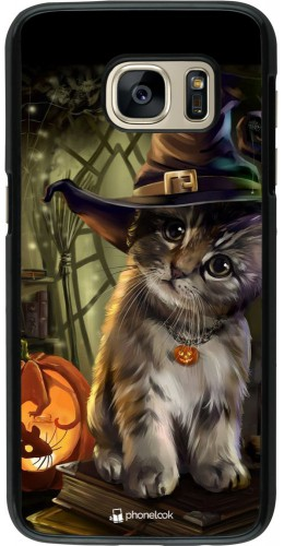 Coque Samsung Galaxy S7 - Halloween 21 Witch cat