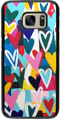 Coque Samsung Galaxy S7 - Joyful Hearts