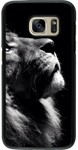Coque Galaxy S7 - Lion looking up