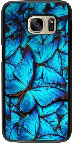 Coque Galaxy S7 - Papillon bleu