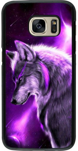 Coque Samsung Galaxy S7 - Purple Sky Wolf