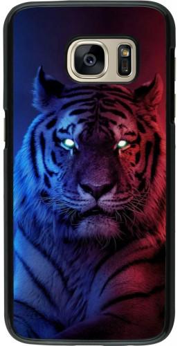 Coque Samsung Galaxy S7 - Tiger Blue Red