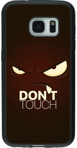 Coque Samsung Galaxy S7 - Silicone rigide noir Angry Dont Touch