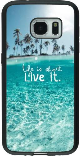 Coque Samsung Galaxy S7 - Silicone rigide noir Summer 18 24