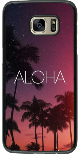 Coque Samsung Galaxy S7 edge - Aloha Sunset Palms