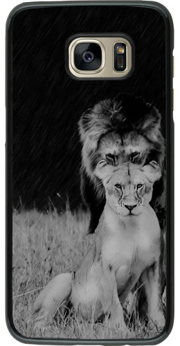 Coque Galaxy S7 edge - Angry lions