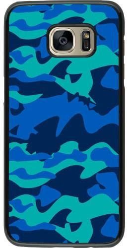 Coque Samsung Galaxy S7 edge - Camo Blue