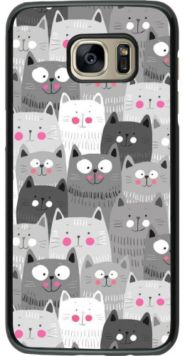 Coque Samsung Galaxy S7 edge - Chats gris troupeau