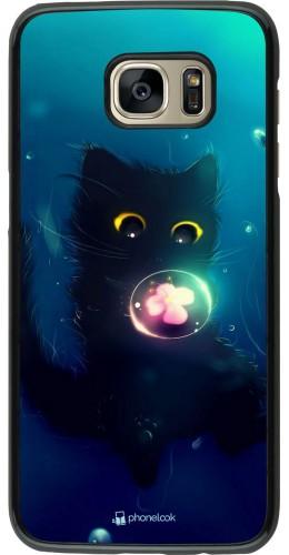 Coque Samsung Galaxy S7 edge - Cute Cat Bubble