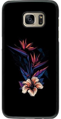 Coque Samsung Galaxy S7 edge - Dark Flowers
