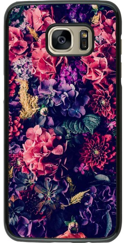 Coque Samsung Galaxy S7 edge - Flowers Dark