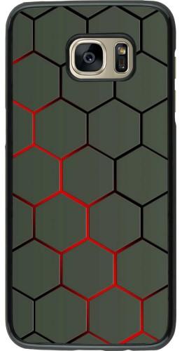 Coque Samsung Galaxy S7 edge - Geometric Line red
