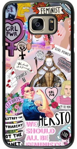 Coque Samsung Galaxy S7 edge - Girl Power Collage