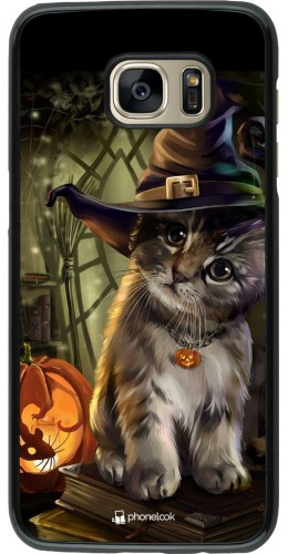 Coque Samsung Galaxy S7 edge - Halloween 21 Witch cat