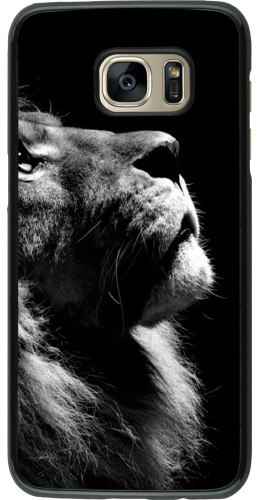 Coque Samsung Galaxy S7 edge - Lion looking up