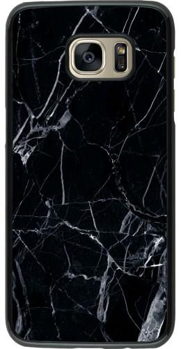 Coque Samsung Galaxy S7 edge -  Marble Black 01