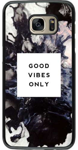 Coque Samsung Galaxy S7 edge -  Marble Good Vibes Only