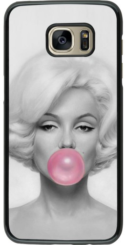Coque Samsung Galaxy S7 edge  Marilyn Bubble