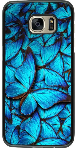 Coque Samsung Galaxy S7 edge - Papillon bleu