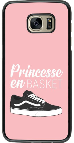 Coque Samsung Galaxy S7 edge - princesse en basket