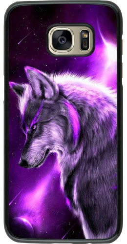 Coque Samsung Galaxy S7 edge - Purple Sky Wolf