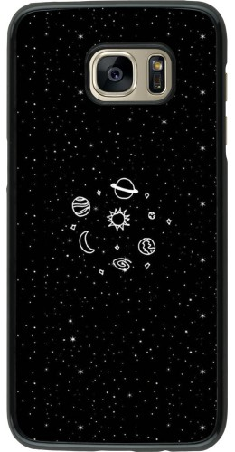 Coque Galaxy S7 edge - Space Doodle