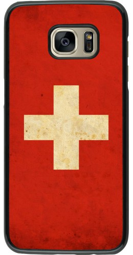 Coque Samsung Galaxy S7 edge - Vintage Flag SWISS