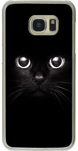 Coque Galaxy S7 edge - Plastique transparent Cat eyes