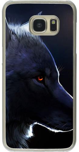 Coque Galaxy S7 edge - Plastique transparent Wolf Shape