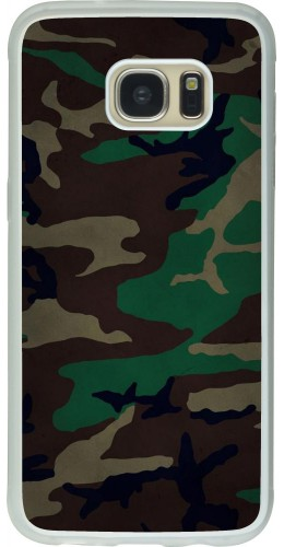 Coque Galaxy S7 edge - Silicone rigide transparent Camouflage 3