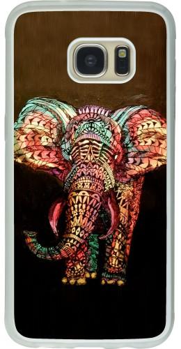 Coque Galaxy S7 edge - Silicone rigide transparent Elephant 02