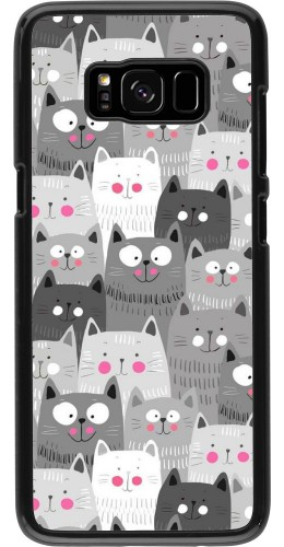 Coque Samsung Galaxy S8 - Chats gris troupeau