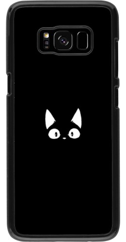 Coque Samsung Galaxy S8 - Funny cat on black