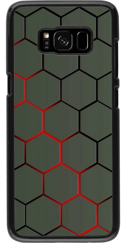 Coque Samsung Galaxy S8 - Geometric Line red