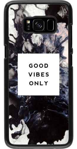 Coque Samsung Galaxy S8 - Marble Good Vibes Only