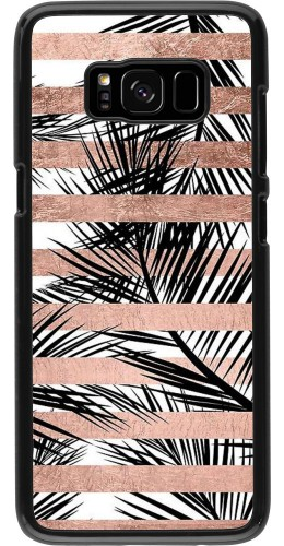 Coque Samsung Galaxy S8 - Palm trees gold stripes