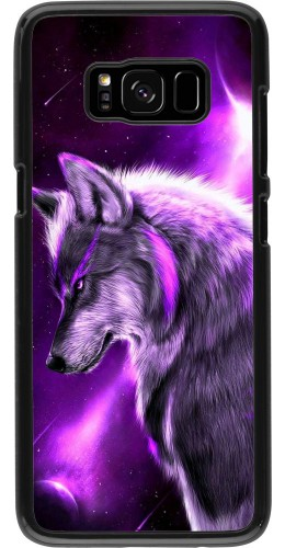 Coque Samsung Galaxy S8 - Purple Sky Wolf