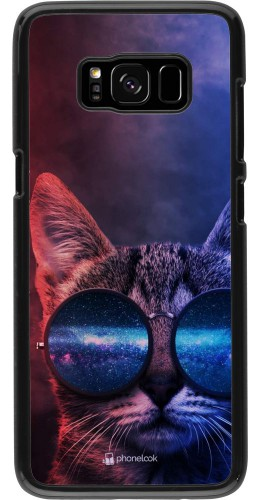 Coque Samsung Galaxy S8 - Red Blue Cat Glasses