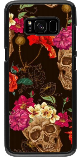 Coque Samsung Galaxy S8 - Skulls and flowers