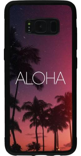 Coque Samsung Galaxy S8 - Silicone rigide noir Aloha Sunset Palms
