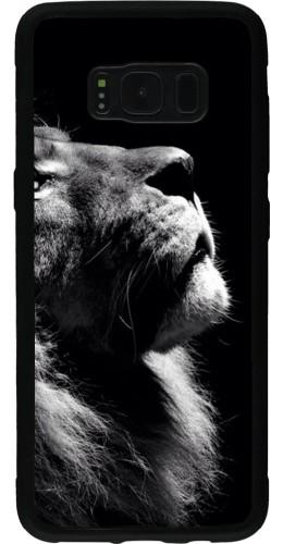 Coque Galaxy S8 - Silicone rigide noir Lion looking up