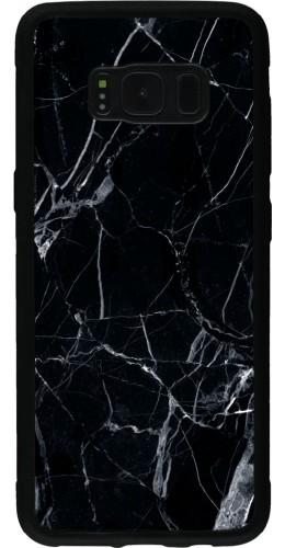 Coque Galaxy S8 - Silicone rigide noir Marble Black 01