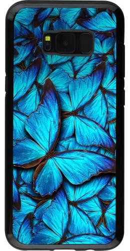 Coque Galaxy S8+ - Hybrid Armor noir Papillon bleu