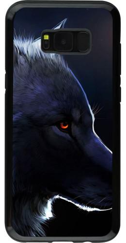Coque Galaxy S8+ - Hybrid Armor noir Wolf Shape