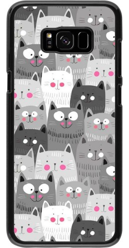 Coque Samsung Galaxy S8+ - Chats gris troupeau