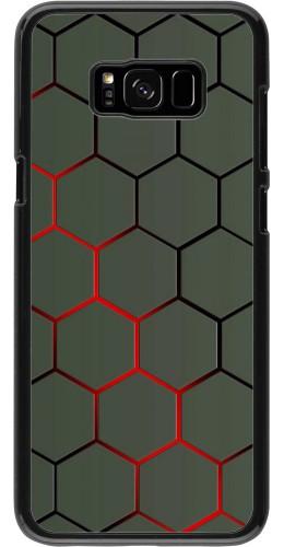 Coque Samsung Galaxy S8+ - Geometric Line red