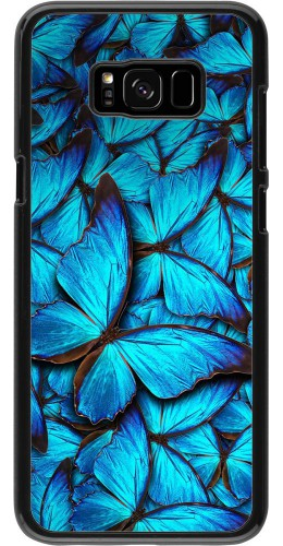 Coque Galaxy S8+ - Papillon bleu