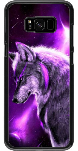 Coque Samsung Galaxy S8+ - Purple Sky Wolf