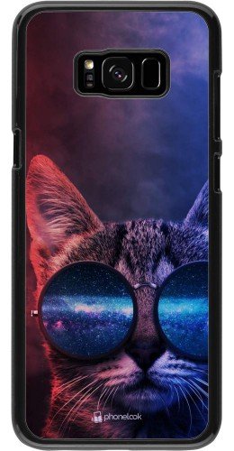 Coque Samsung Galaxy S8+ - Red Blue Cat Glasses